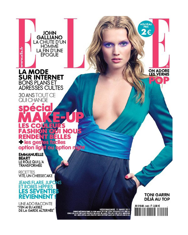 Toni Garrn for Elle France March 11, 2011 (Cover)