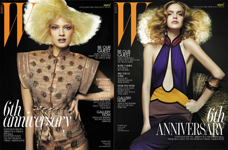 W Korea March 2011 Covers | Kasia, Mirte & Constance by David Byun