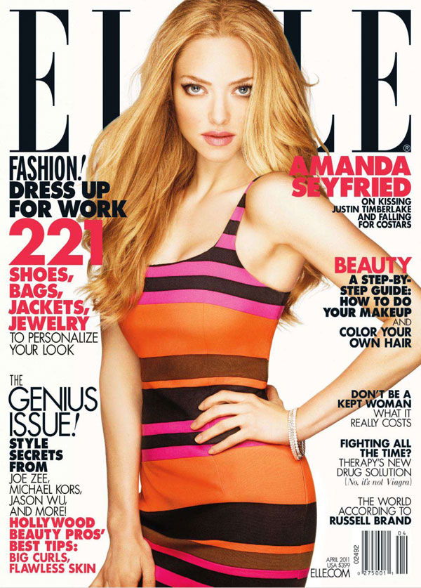 Elle US April 2011 Cover | Amanda Seyfried by Alexei Hay