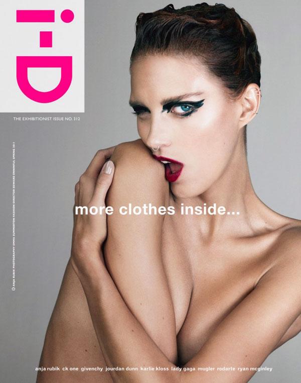 i-D Spring 2011 Cover | Anja Rubik by Emma Summerton