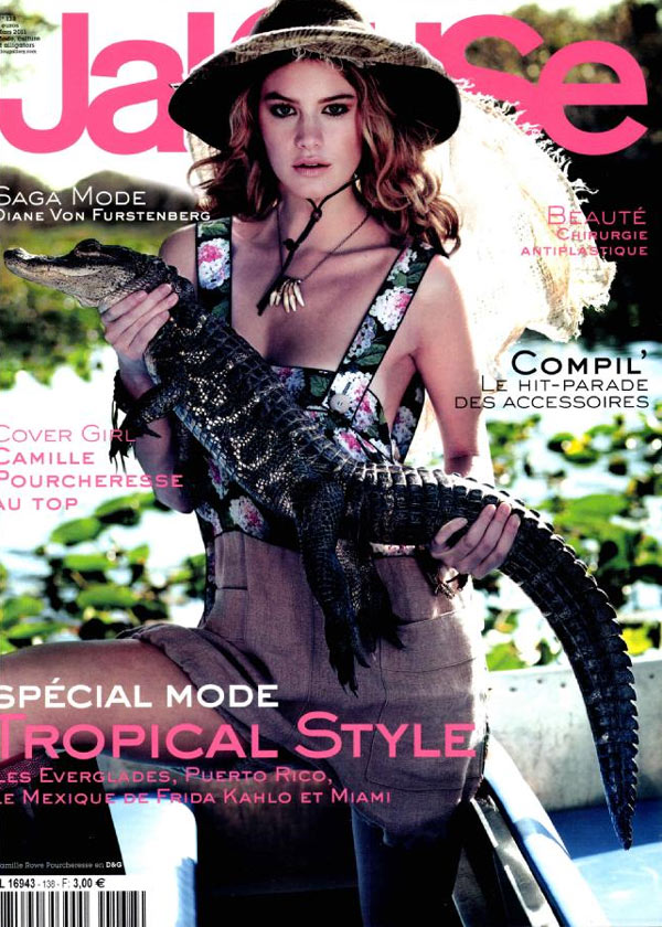 Jalouse March 2011 Cover | Camille Rowe by Matthew Frost