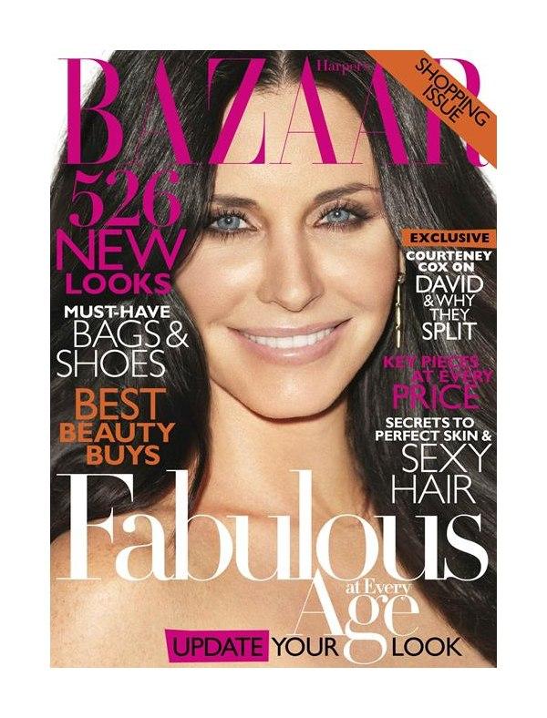 Harper's Bazaar US April 2011 Cover | Courteney Cox by Terry Richardson