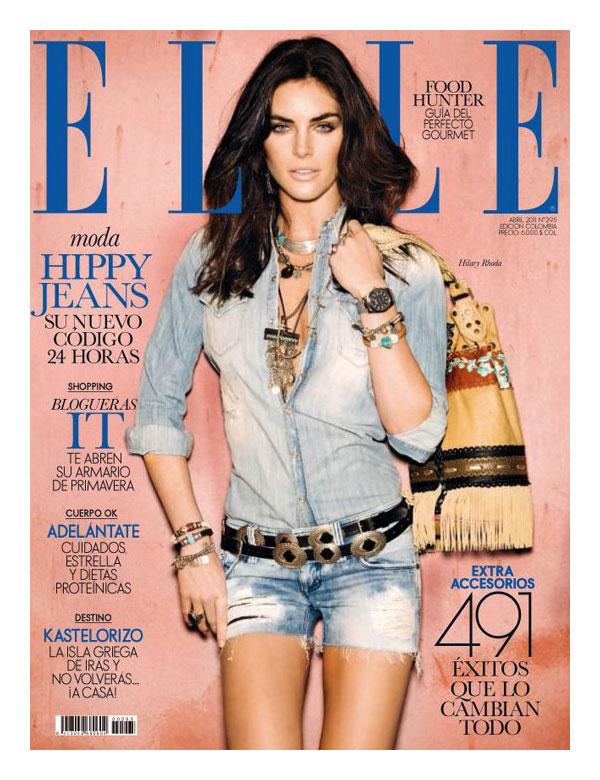 Hilary Rhoda for Elle Spain April 2011 (Cover)