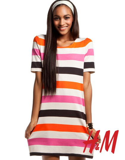 Jourdan Dunn for H&M Romantic Preppy Spring 2011 Campaign