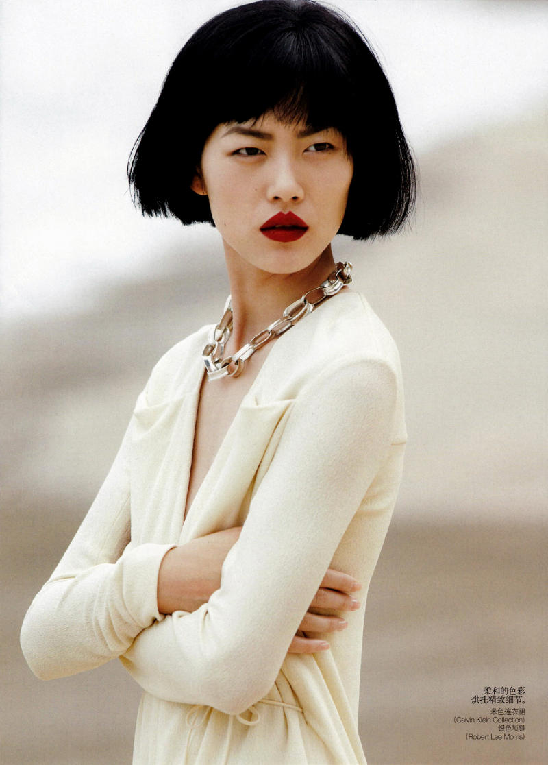 Liu Wen by Hans Feurer for Vogue China April 2011