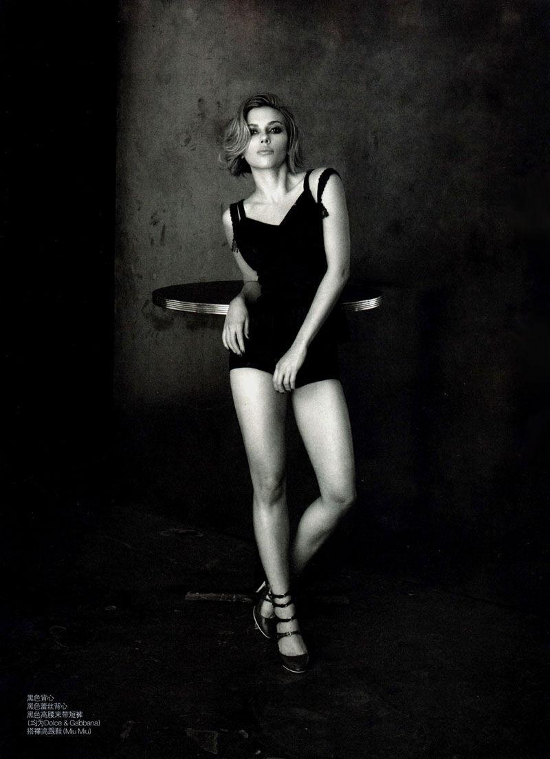 Scarlett Johansson in Dolce & Gabbana for Vogue China April 2011