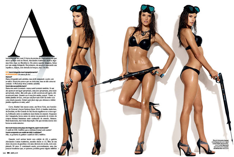 Alessandra Ambrosio for GQ Brazil April 2011 by Gavin Bond