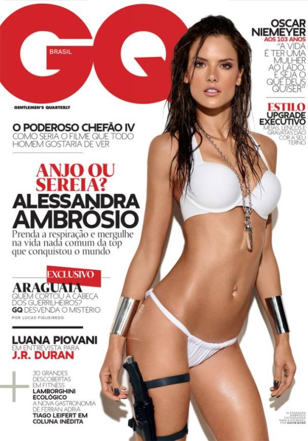 GQ Brazil April 2011 Cover | Alessandra Ambrosio by Gavin Bond