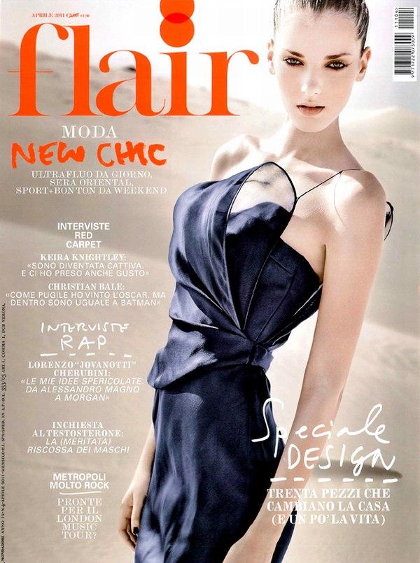 Flair April 2011 Cover | Denisa Dvorakova by Jean-François Campos