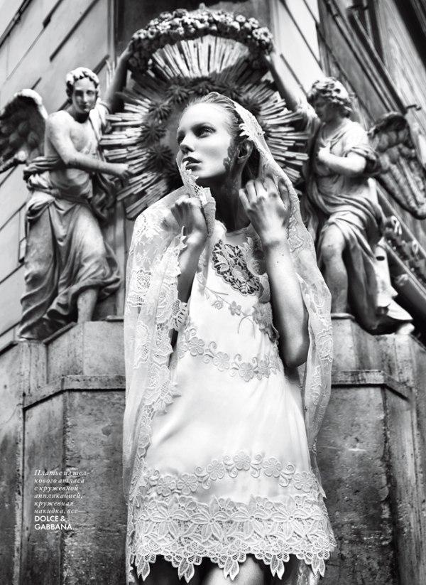 Ragnhild Jevne by Nikolay Biryukov for Elle Ukraine April 2011