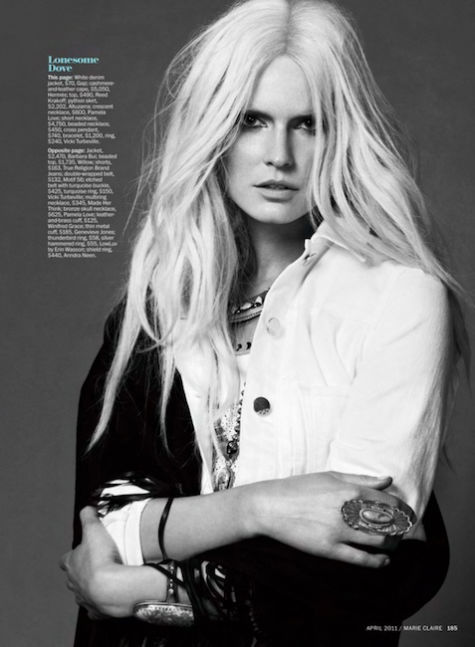 Hartje Andresen by David Roemer for Marie Claire US April 2011