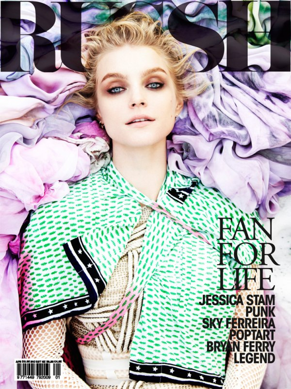 Russh #39 April/May 2011 Cover | Jessica Stam by Will Davidson
