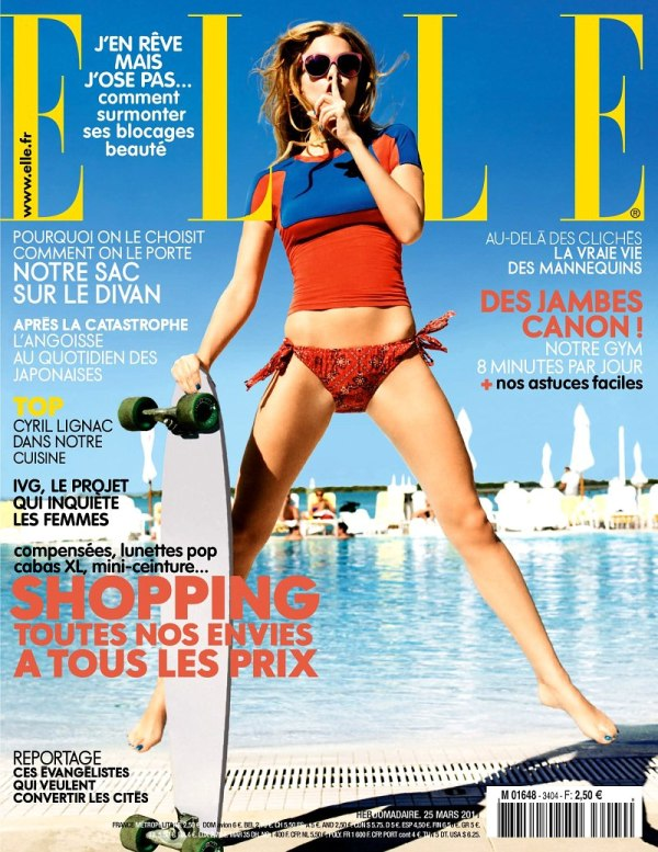 Elle France March 25, 2011 Cover | Marloes Horst by Ben Watts