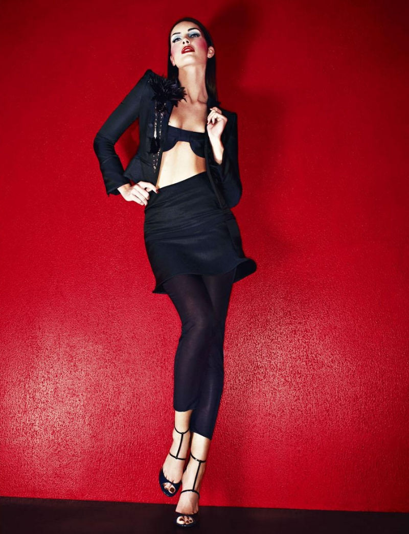 Hilary Rhoda in Giorgio Armani by Mariano Vivanco for Vogue Russia April 2011