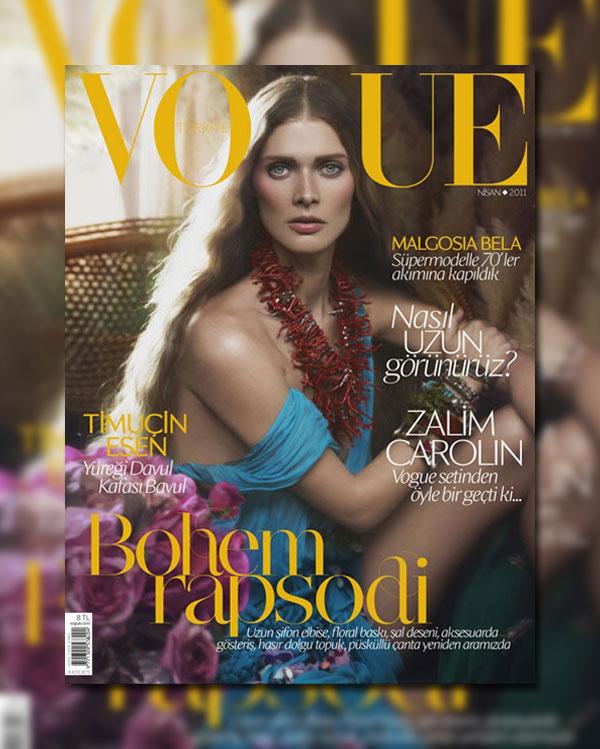 Vogue Turkey April 2011 Cover | Malgosia Bela by Cüneyt Akeroglu