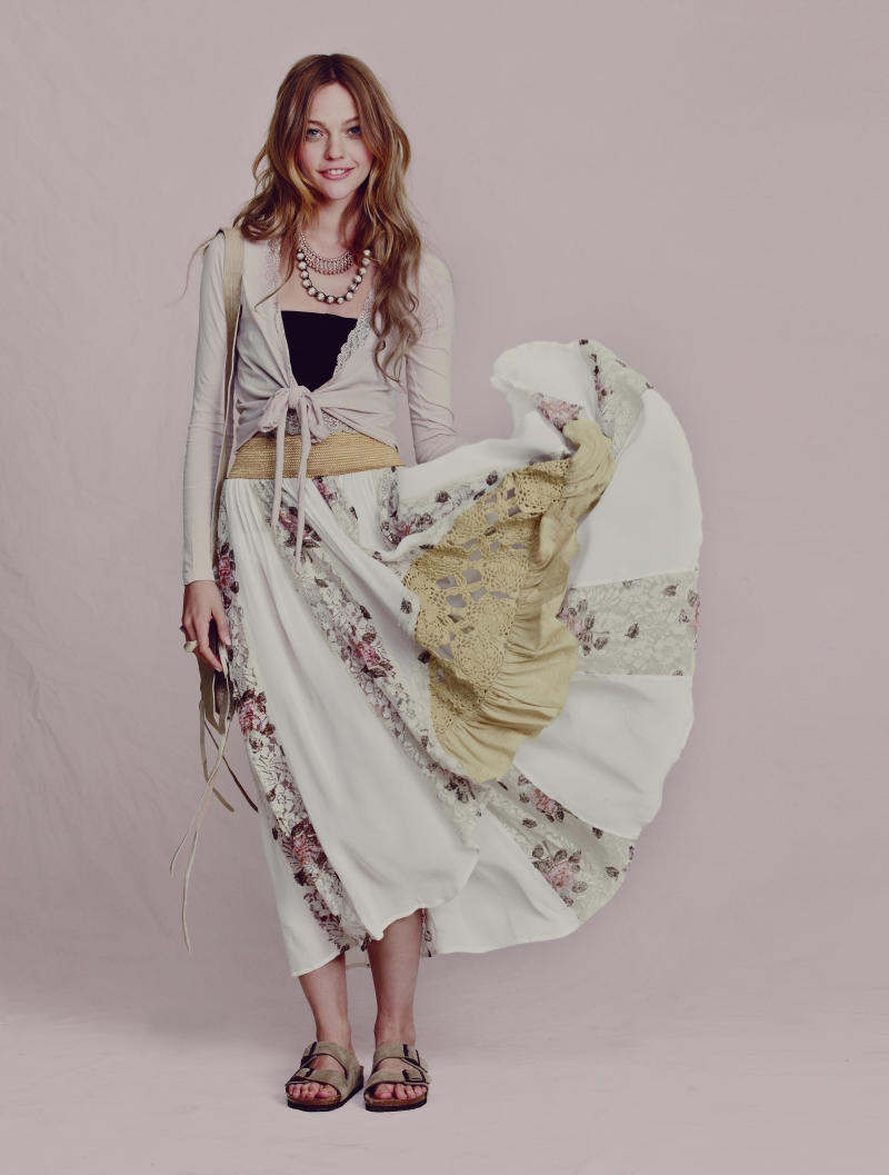 Sasha Pivovarova for Free People April 2011 Catalogue