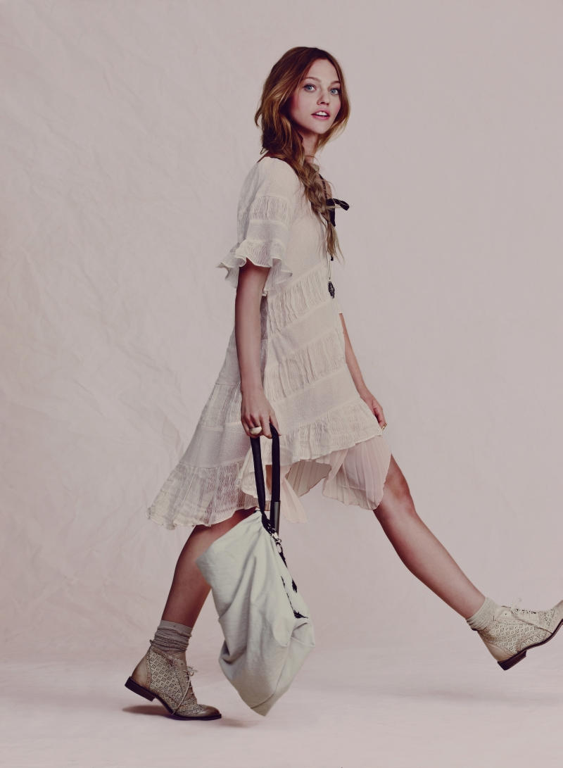 Sasha Pivovarova for Free People April 2011 Catalogue