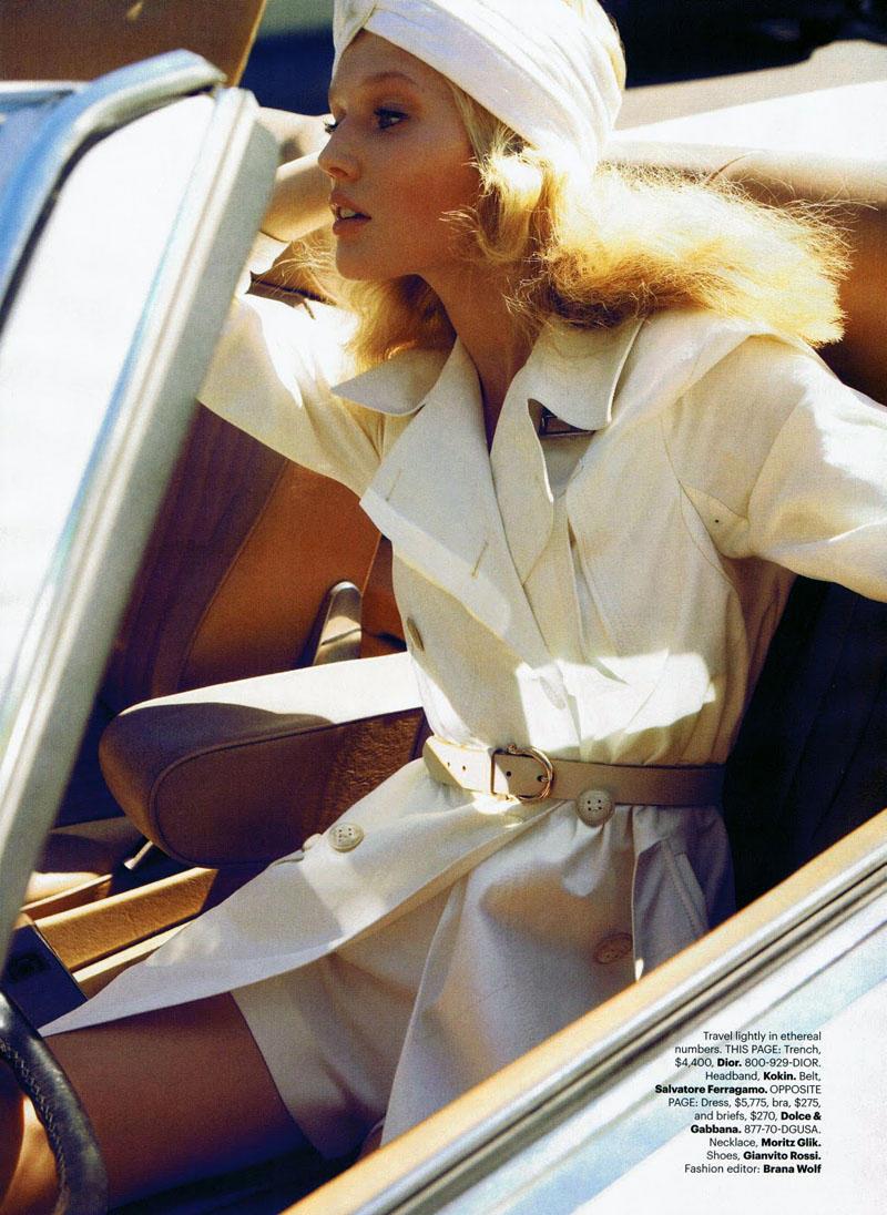 Toni Garrn by Camilla Akrans for Harper's Bazaar US April 2011