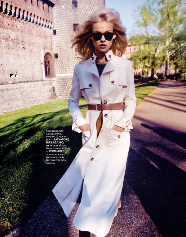 Viktoriya Sasonkina for Elle Ukraine April 2011 by Stefano Galuzzi