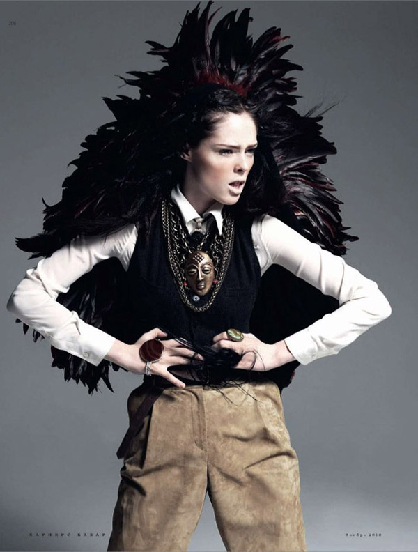 Coco Rocha for Harper's Bazaar Russia November 2010 by Alan Gelati