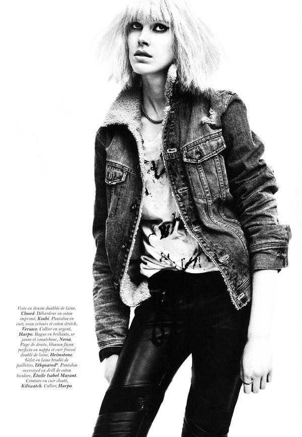 Iselin Steiro by David Sims in Roller Girl | Vogue Paris November 2010