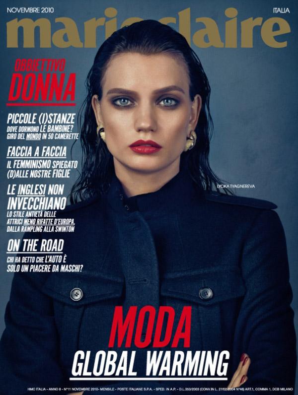 Marie Claire Italia November 2010 Cover | Lyoka Tyagnereva