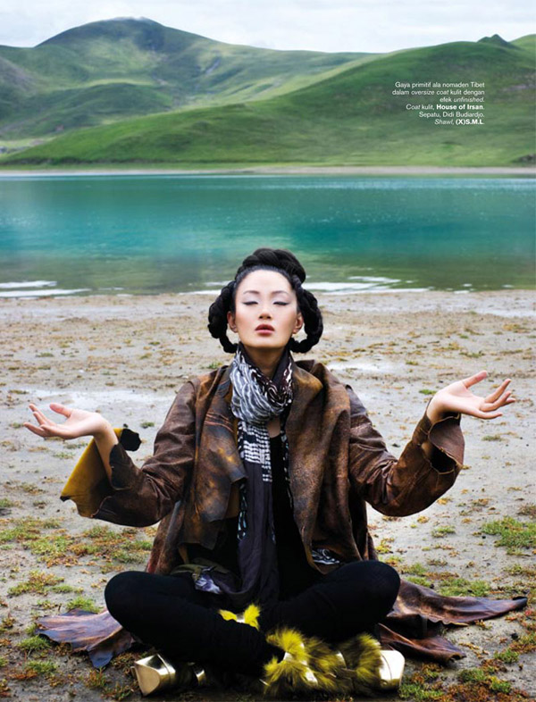 Zhang Fan for Harper's Bazaar Indonesia November 2010 by Nicoline Patricia Malina