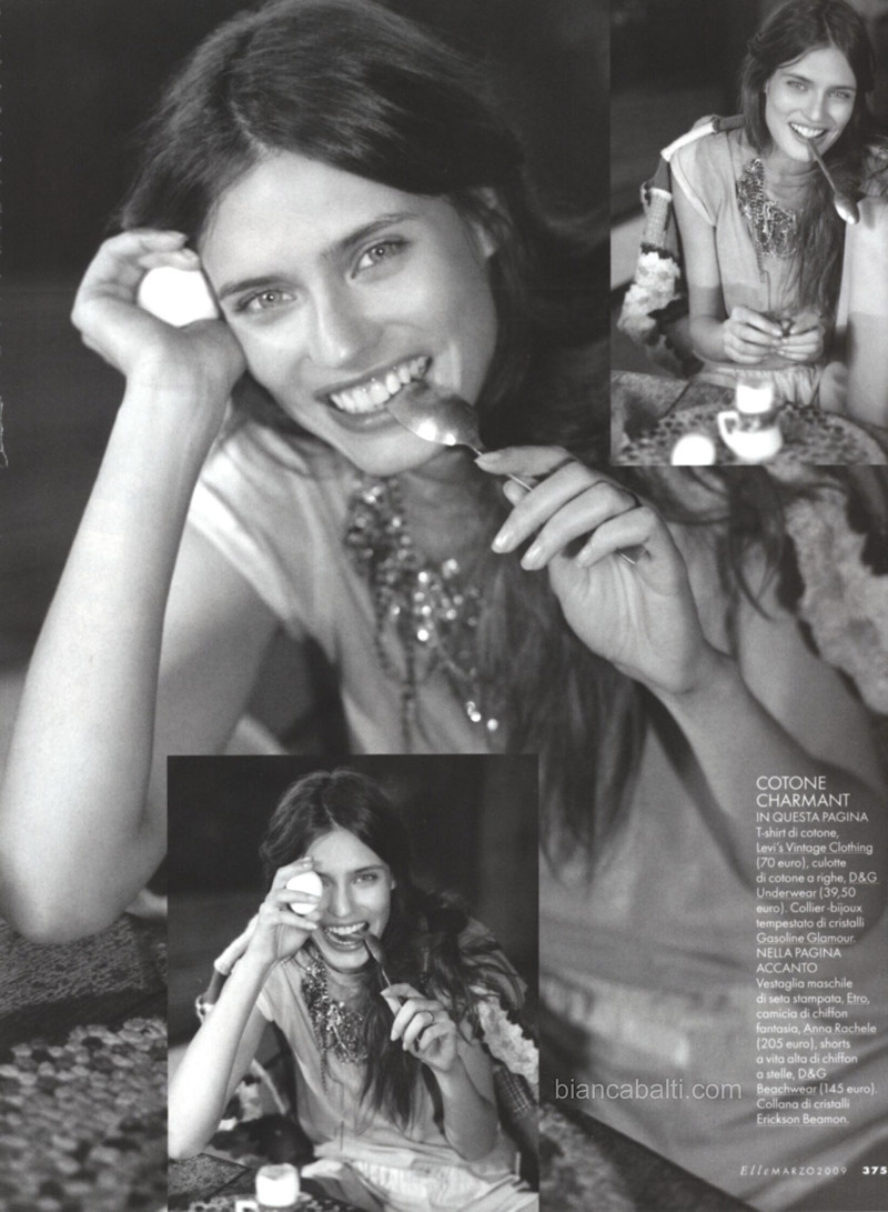 Bianca Balti in Elle Italy