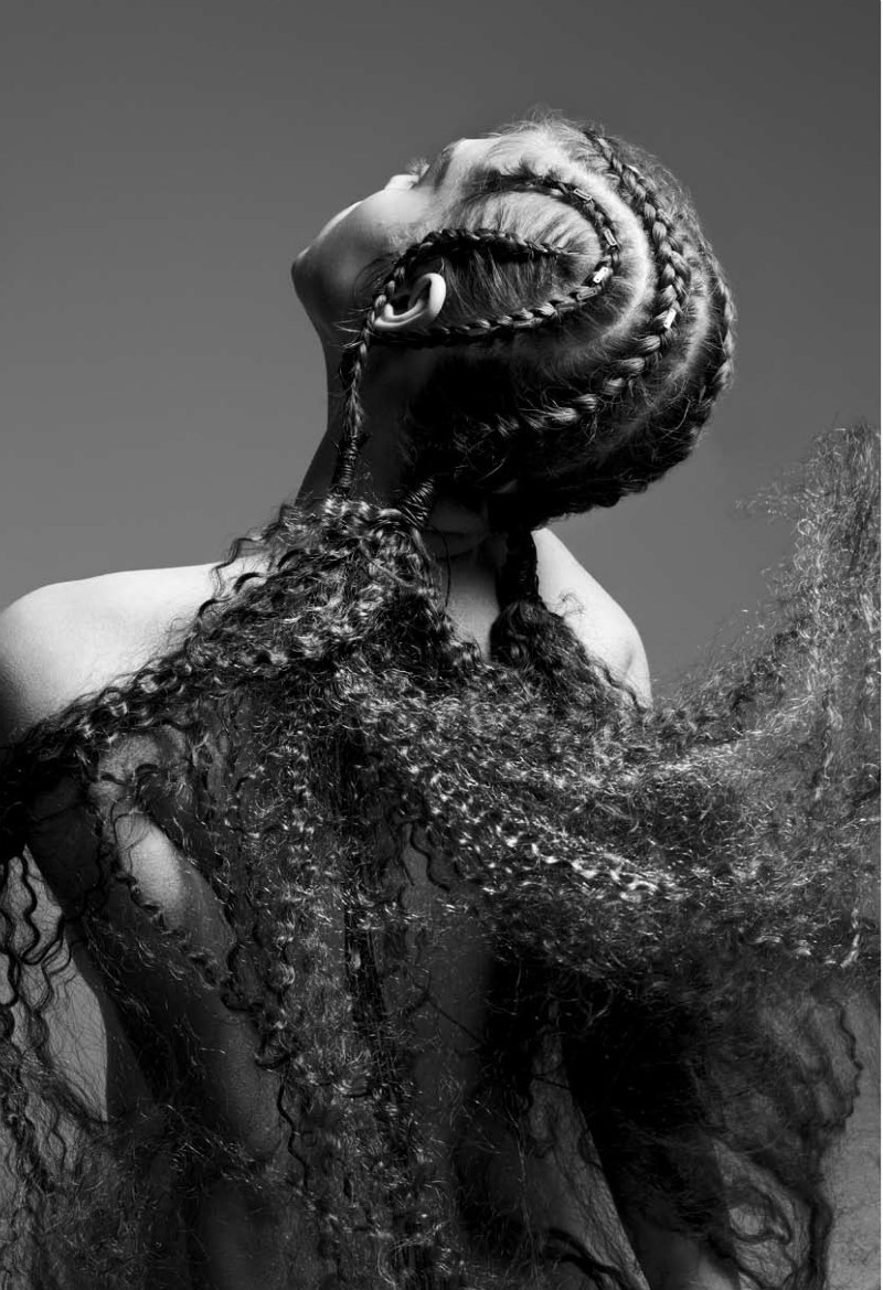 Anais Pouliot donned amazing braids for the spring issue of Turkey's All Magazine / Photo by Sylvie Malfray