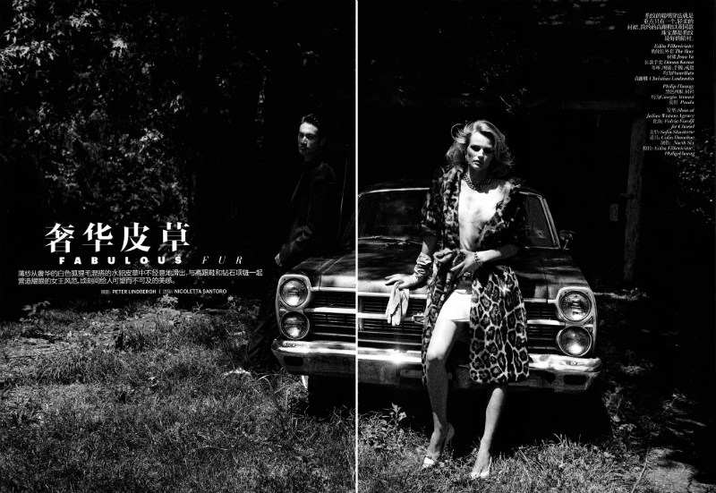 Edita Vilkeviciute by Peter Lindbergh for Vogue China November 2011