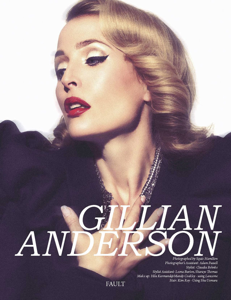 Gillian Anderson by Squiz Hamilton for Fault Magazine Fall 2011