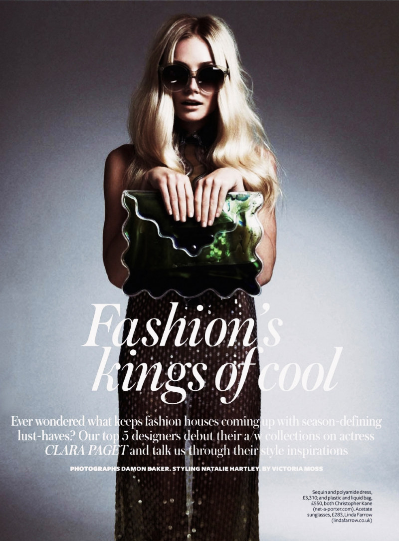 Clara Paget by Damon Baker for InStyle UK