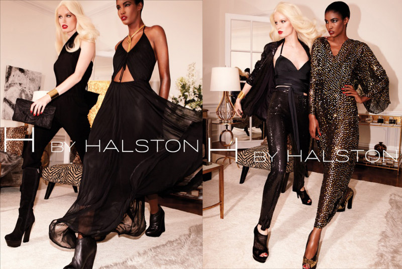 H by Halston Fall 2011 Campaign | Caroline Winberg & Sessilee Lopez by David Roemer