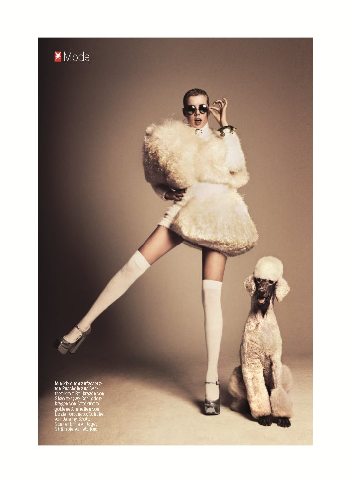 Agyness Deyn by Damon Baker for Stern Magazine September 2011