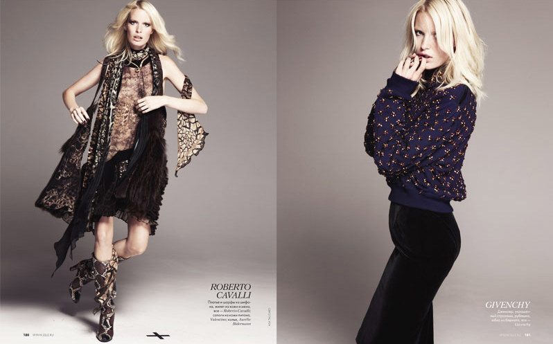 Caroline Winberg by Asa Tallgard for Elle Russia September 2011
