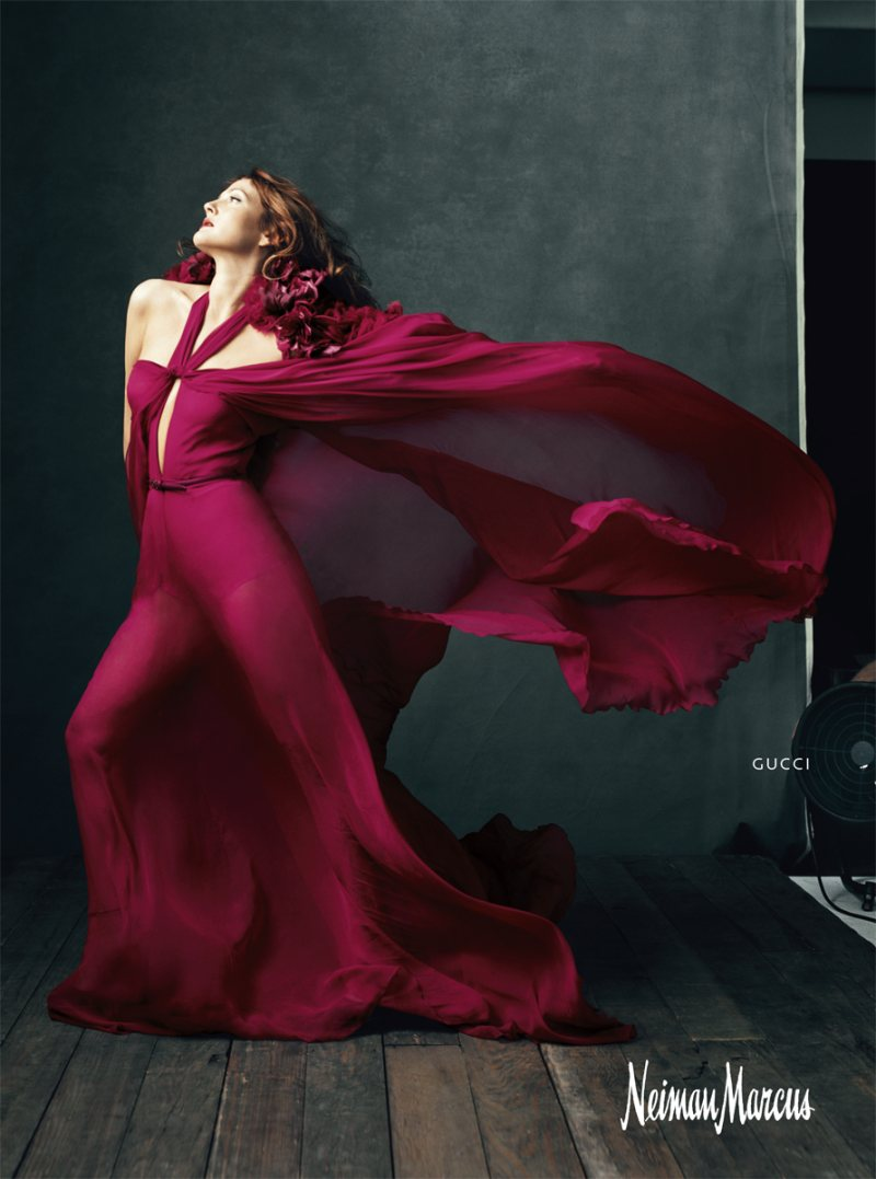 "Drew Barrymore for Neiman Marcus ""Art of Fashion"" Campaign by Norman Jean Roy"
