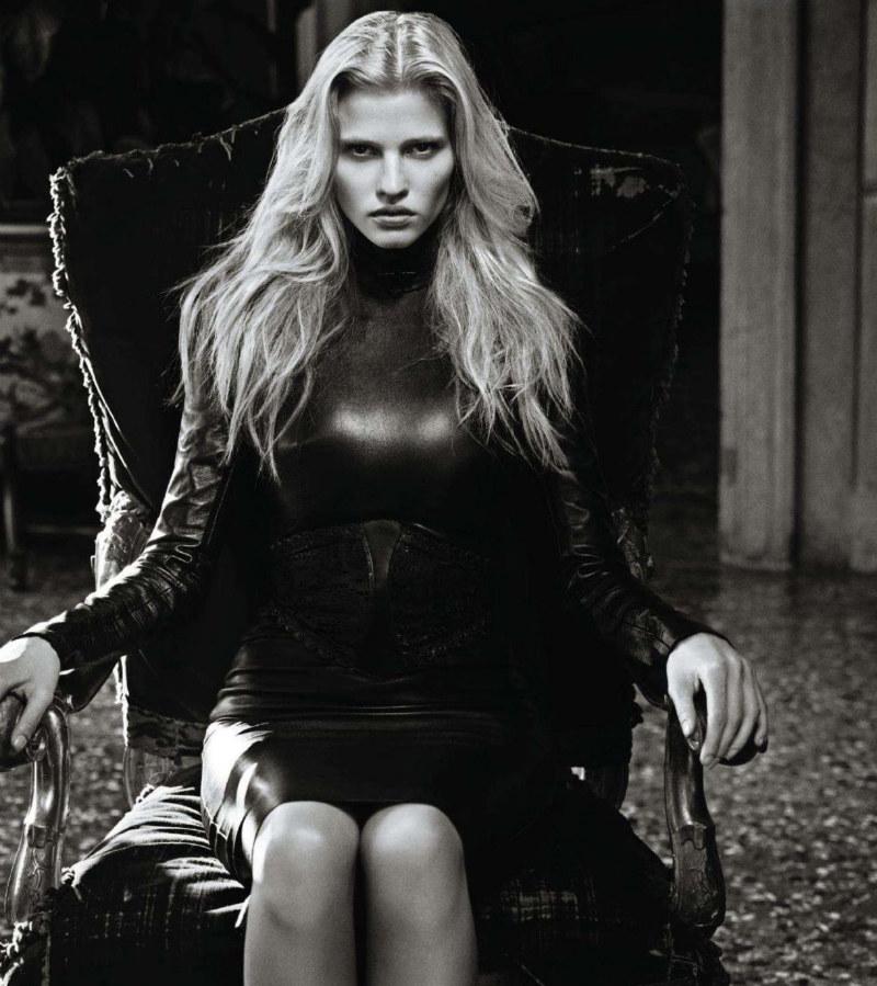 Lara Stone by Mario Sorrenti for Vogue Japan November 2011