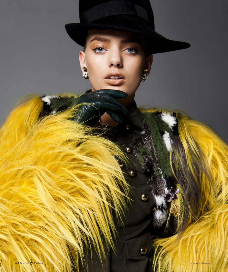 Bregje Heinen Sports Military Style for Harper's Bazaar Latin America October 2012