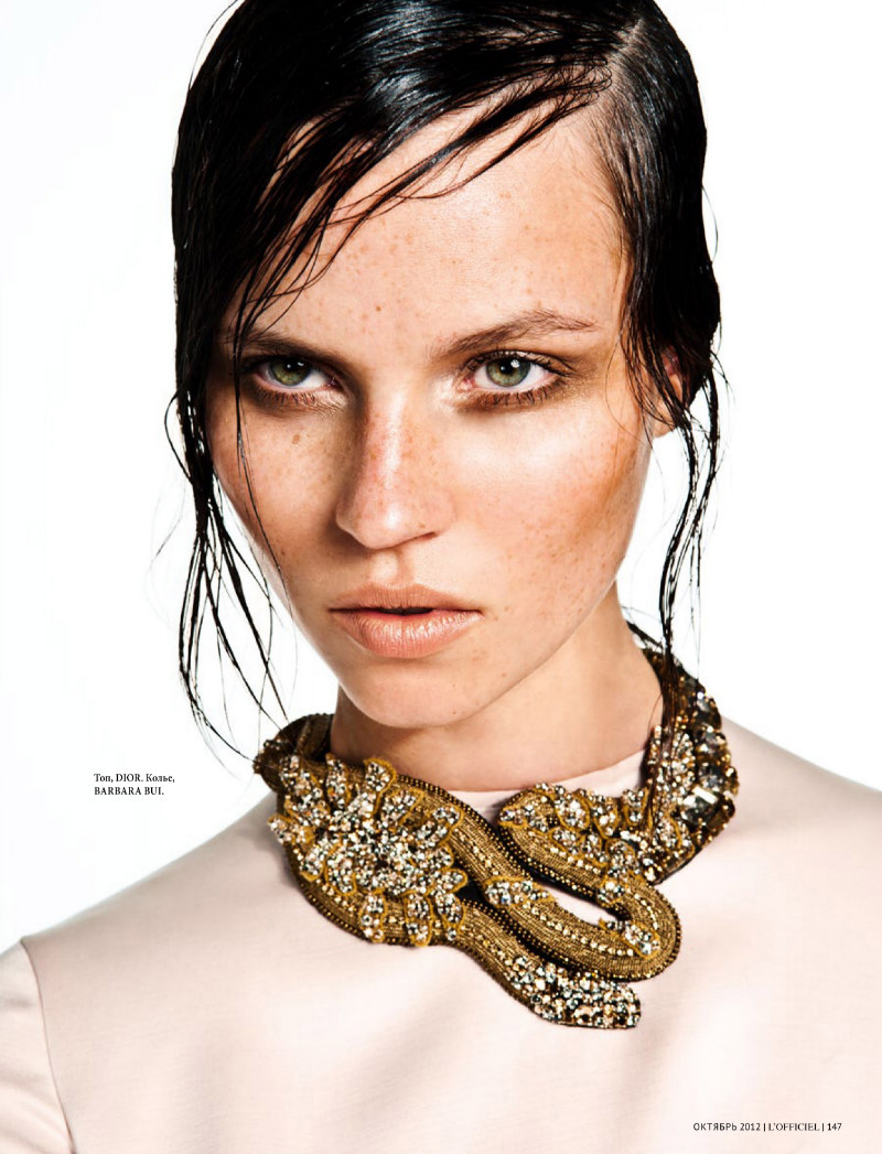 Egle Tvirbutaite Plays Urban Amazon for L'Officiel Ukraine October 2012 by Sy Delorme