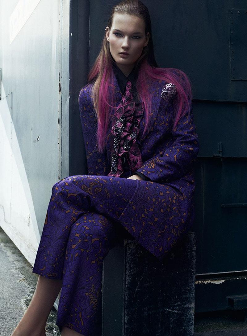 Kirsi Pyrhonen Gets Embellished in Elle Sweden October 2012