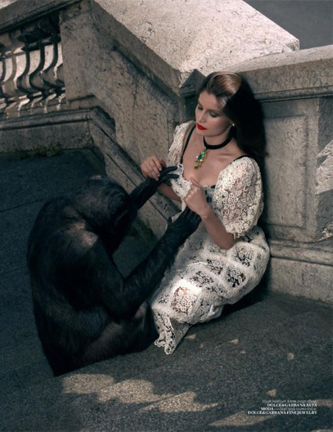 Laetitia Casta Wears Dolce & Gabbana for Vogue Turkey by Sean & Seng