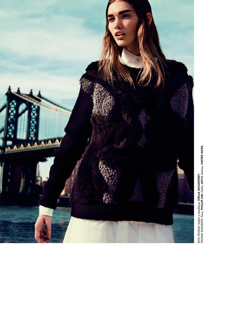 Irina Nikolaeva Dons Bold Cuts for Elle Mexico October 2012 by Kevin Sinclair
