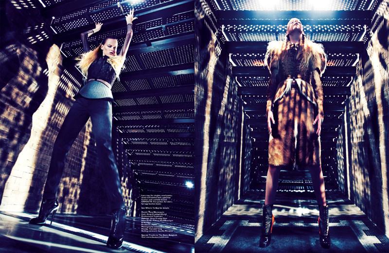Gan Captures Vera Luijendijk in Fendi for Harper's Bazaar Singapore October 2012