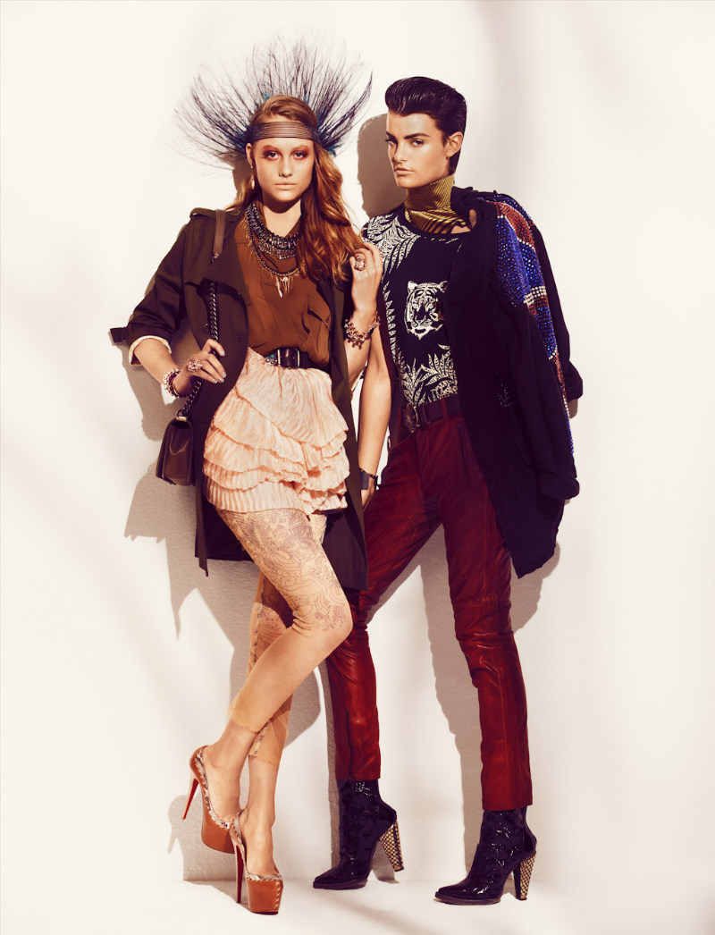 Pau Bertolini and Queeny van der Zandee Wear Boyish Chic Looks for L'Officiel Paris June/July 2012