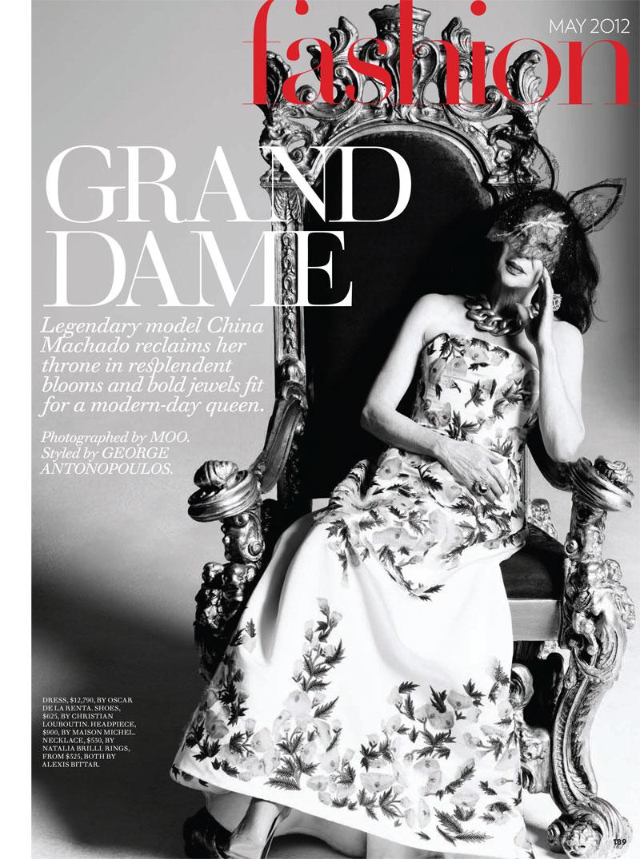 Legendary Model China Machado Stars in Canada's Fashion Magazine