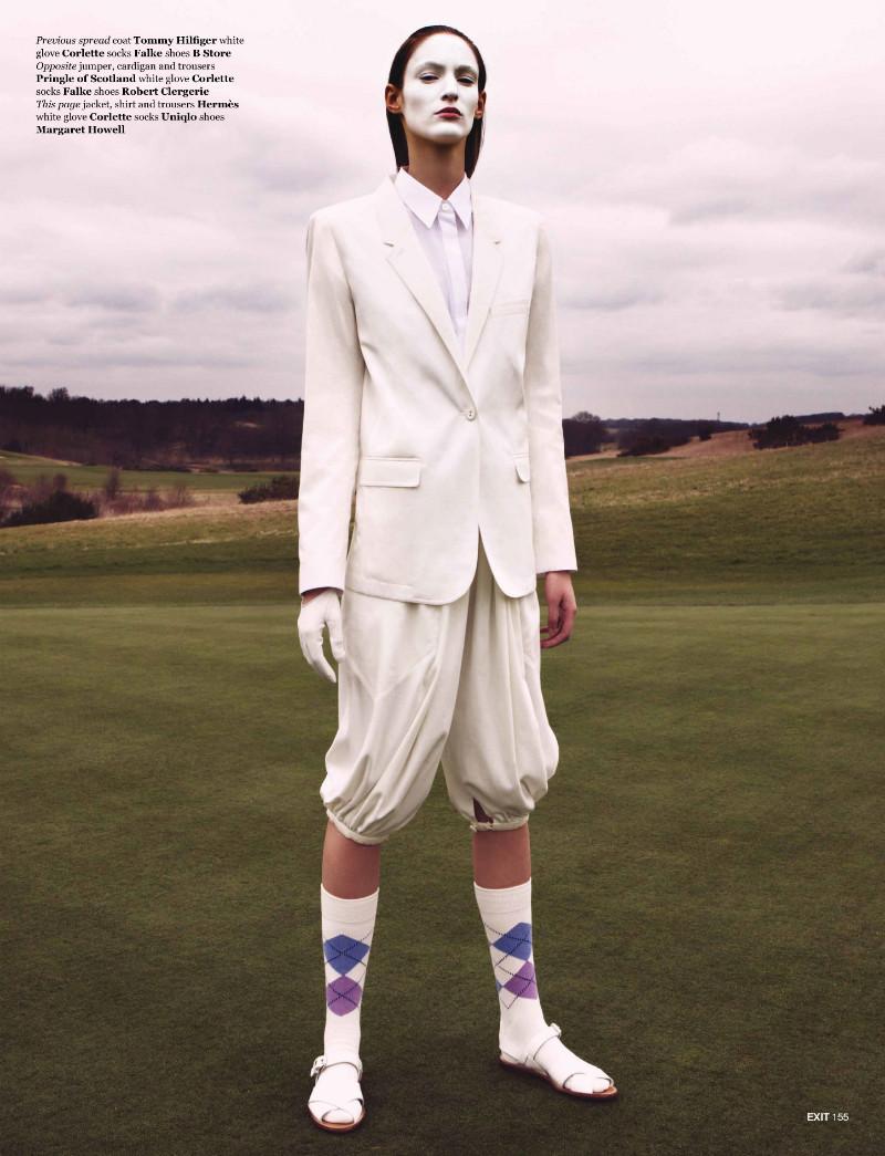 Paul Empson Lenses Franziska Müller on the Green for Exit Magazine's Summer 2012 Issue