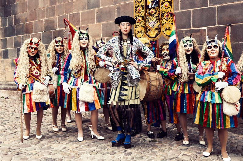 Han Hye Jin Embraces the Colors of Peru in Vogue Korea's July Issue by Alexander Neumann
