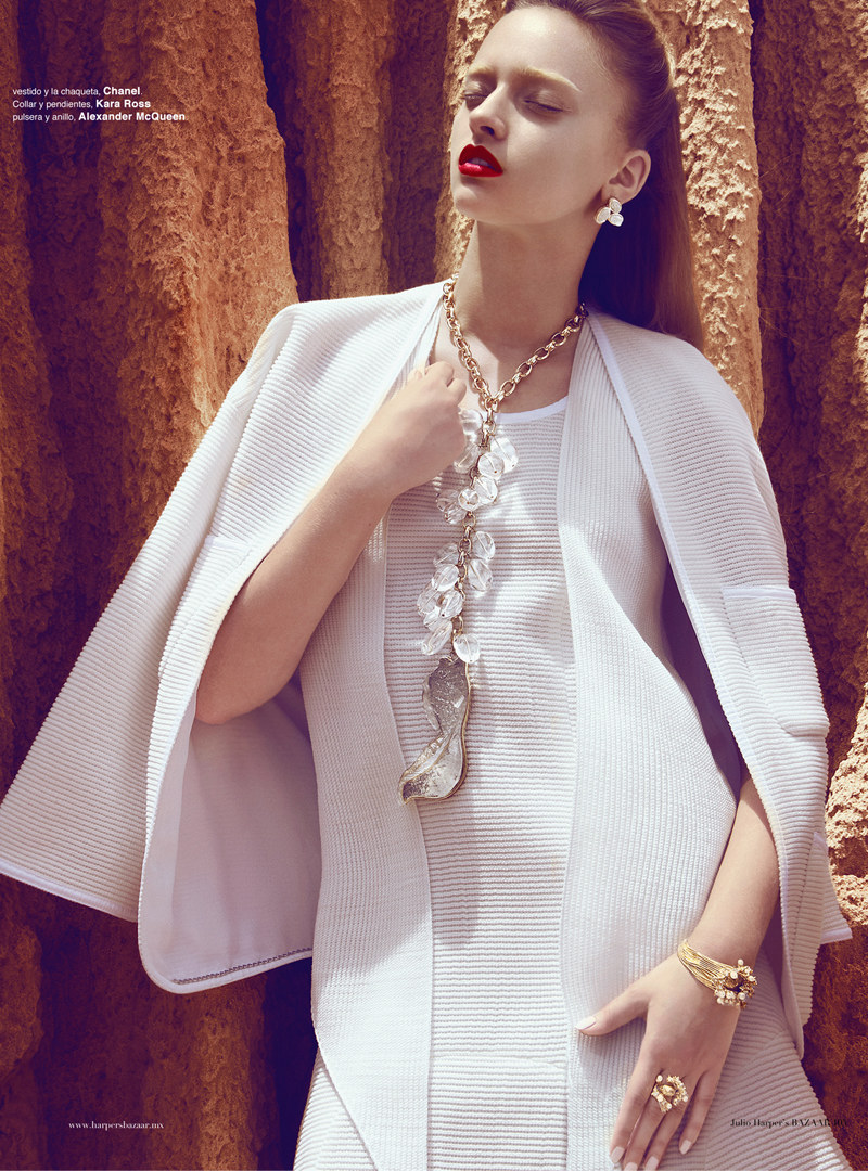 Marcelina Sowa is a White Magic Woman for Harper's Bazaar Mexico by Kevin Sinclair