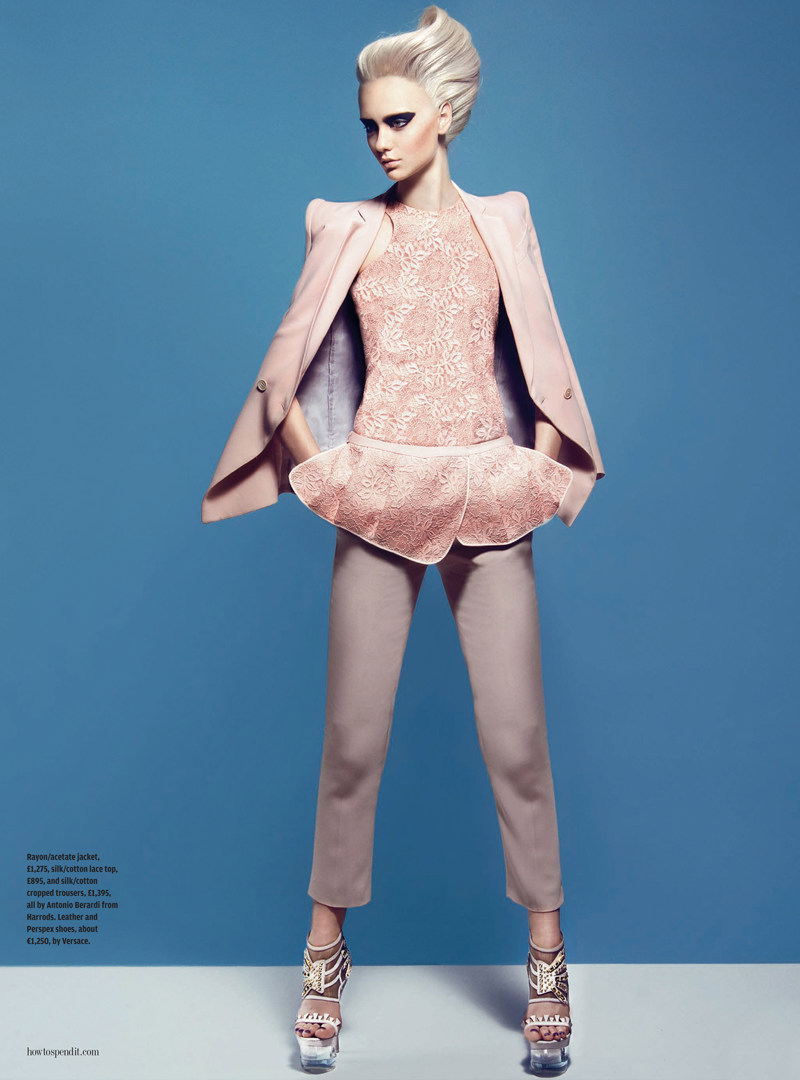 Nastya Kusakina Models Peplum Looks for How to Spend It, Lensed by Kevin Sinclair