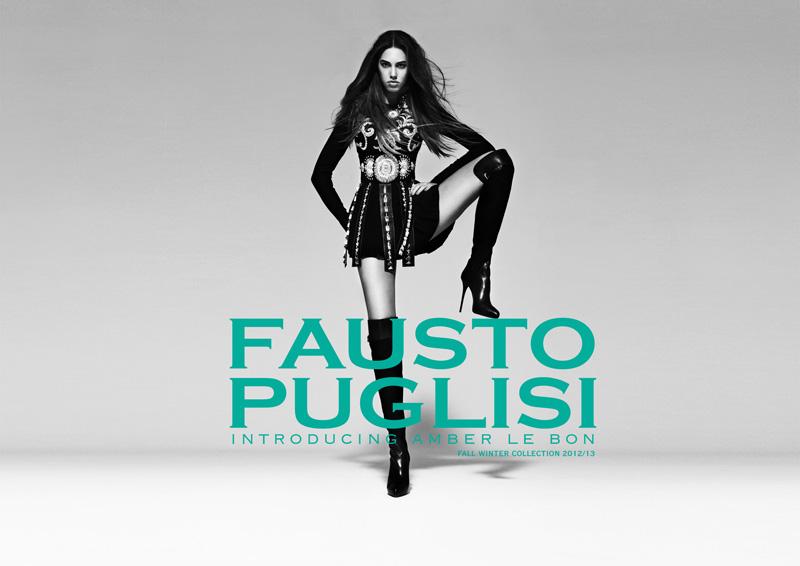 Amber Le Bon Rocks Fausto Puglisi's Fall 2012 Campaign by Paolo Santambrogio